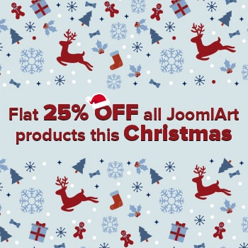 Christmas OFFER with FLAT 25% OFF all JoomlArt