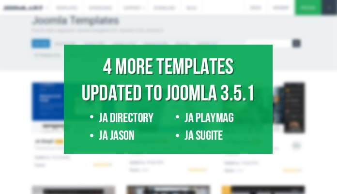 4 More Joomla Templates updated for Joomla 3.5.1&