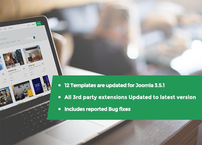 12 Joomla Templates updated for Joomla 3.5.1& bug